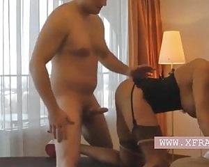 German Escort Milf mit Korsett im Hotelzimmer gefickt