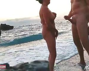 Blond Gefickt Schwarz Die Strand