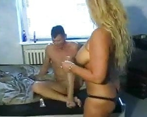 Ehefrau Ehemann Blonde Orgasmus Ehemann