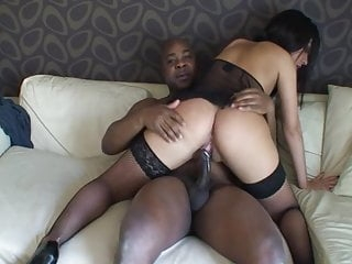 slutwifex rides black cock on couch