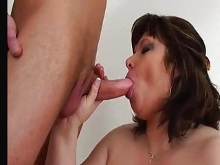 Brunette MILF transforms to a Blonde Granny